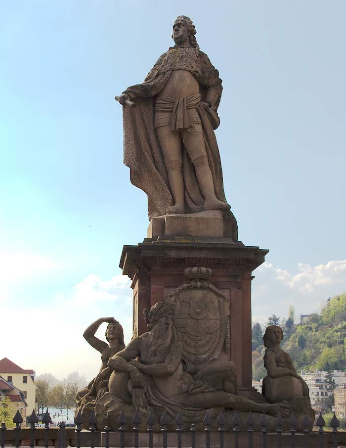 Statue Karl Theodor - Alte Brücke Heidelberg