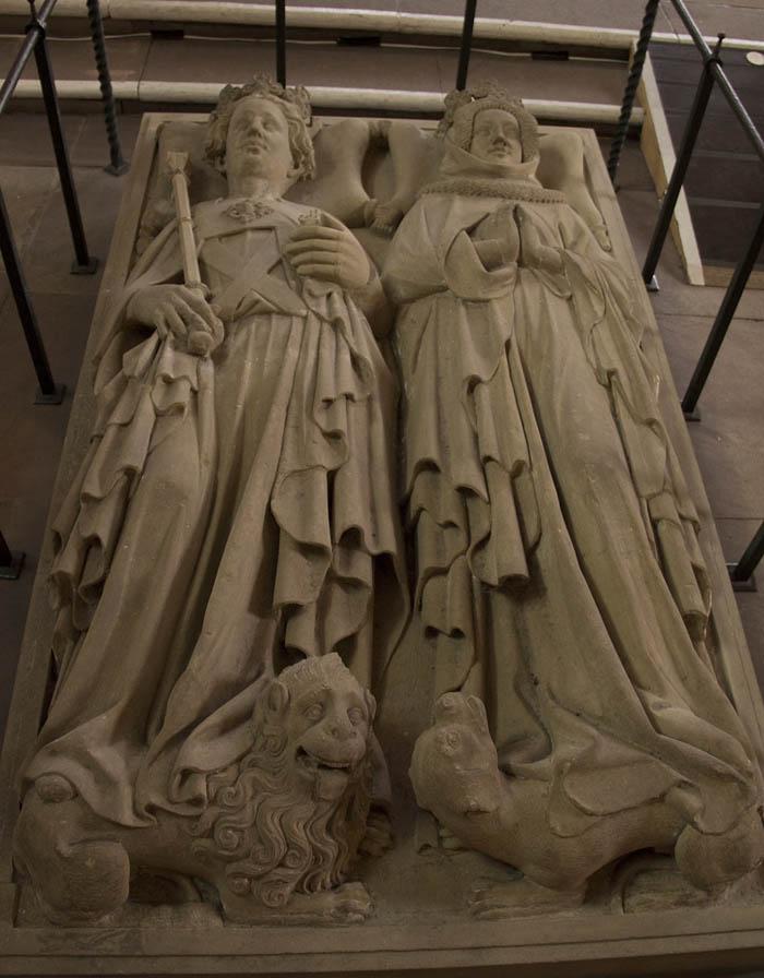 Grabplatte Heiliggeistkirche Heidelberg