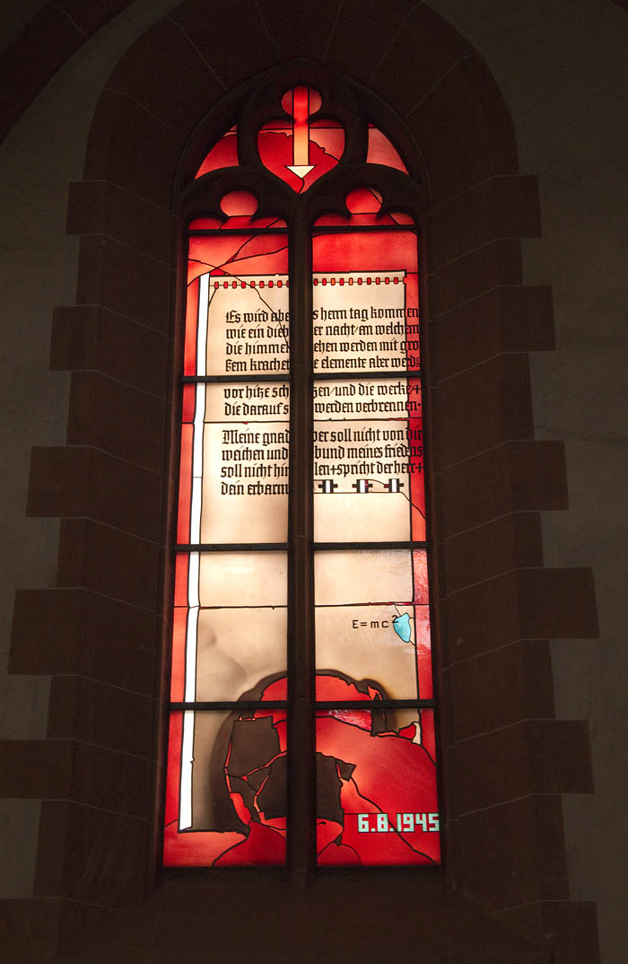 Physikfenster Heiliggeistkirche Heidelberg